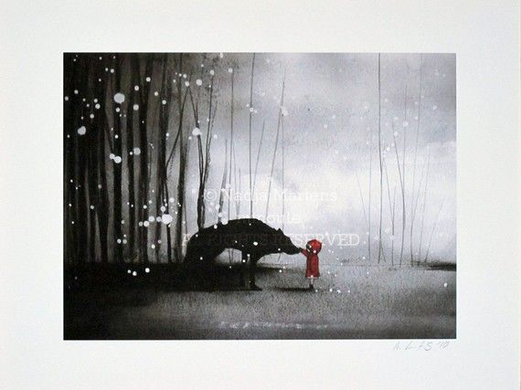 Little Red Riding Hood First encounter with the Wolf by minoule