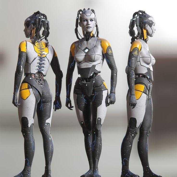 Woman Concept Robot Art