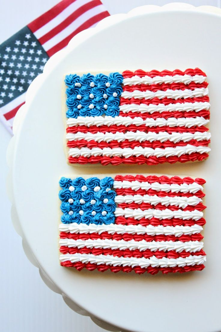 Simple and speedy American Flag Cookies to make with the kids