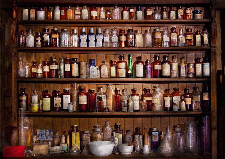 old pharmacy shelves - Google Search
