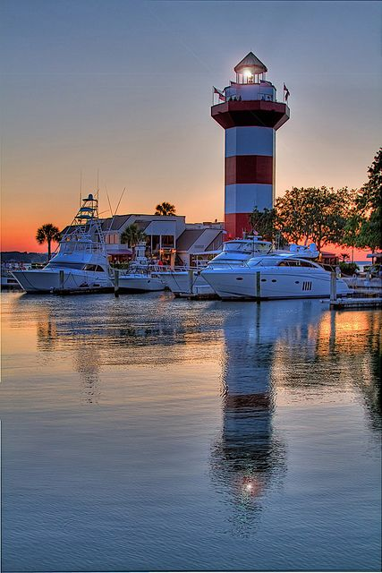 Hilton Head Island - Harbour Town at sunset