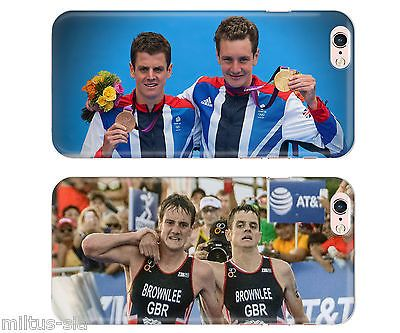 Brownlee Brothers Triathlon UK Rubber Phone Cover Case fits Apple Iphone 5 6s se