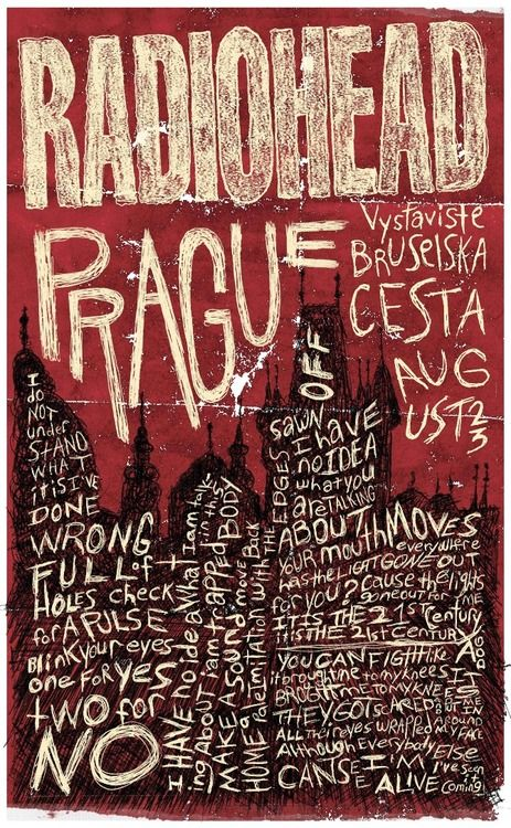 Marlenedoll:Bruce Young | Radiohead Gig Poster