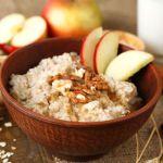 #breakfast #porridge #apple #maplesyrup