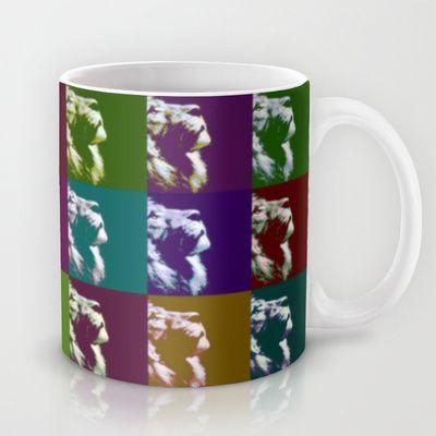 Lion Standing Alone Mug by Sara PixelPixie - $15.00