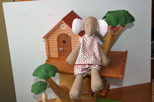 Куклы Тильды ручной работы. Ярмарка Мастеров - ручная работа. Купить Интерьерная текстильная кукла слоник  Соня. Handmade. Розовый