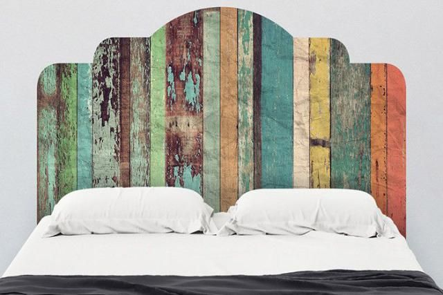 17 DIY Headboards Ideas That Will Wake Up Your Tired Bedroom: Peel and Stick Headboard
