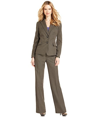 Evan Picone Petite Suit, Tonal-Stripe Jacket & Trousers - Womens Petite Suits & Separates - Macy's, 117