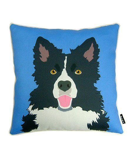 lava pillows Blue Border Collie Throw Pillow | zulily
