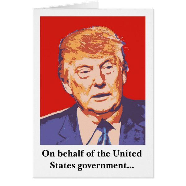 America Donald Trump Funny Birthday Card #cards #birthday #happybirthday