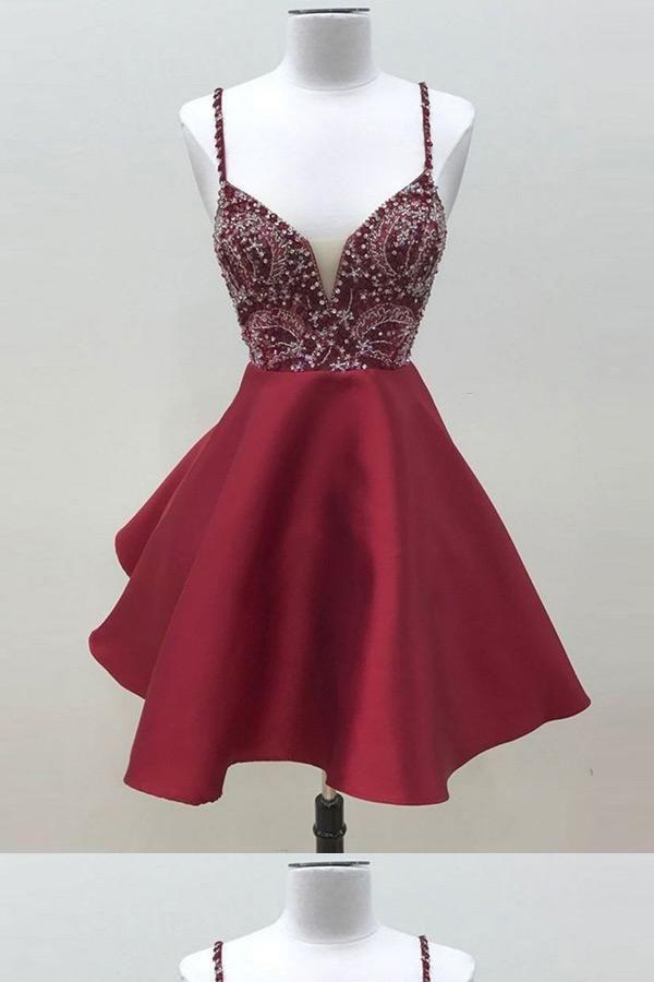 2af8050f309e Homecoming Dress Short #HomecomingDressShort, Burgundy Homecoming Dress  #BurgundyHomecomingDress Short Homecoming Dresses