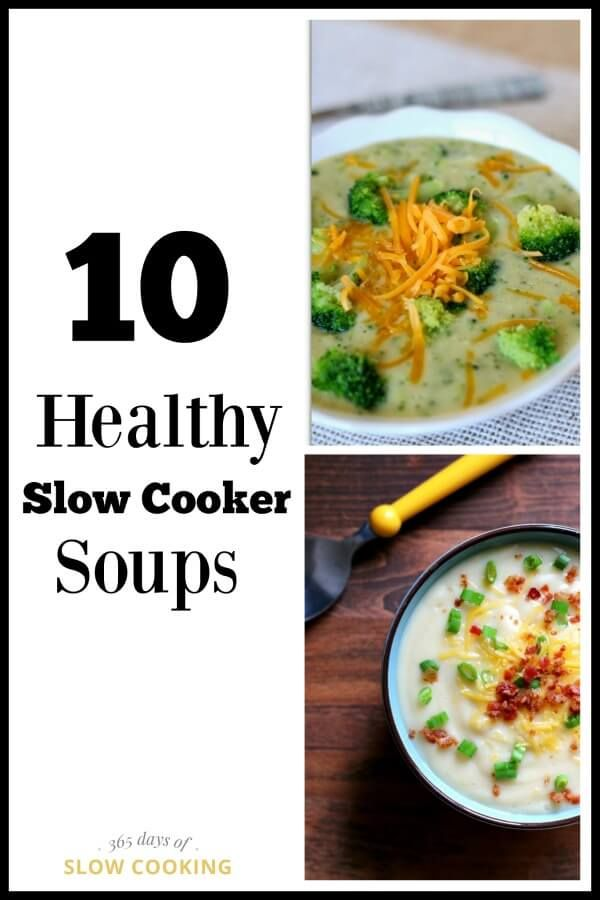Slow cooker healthy soup recipes that are easy to make too!