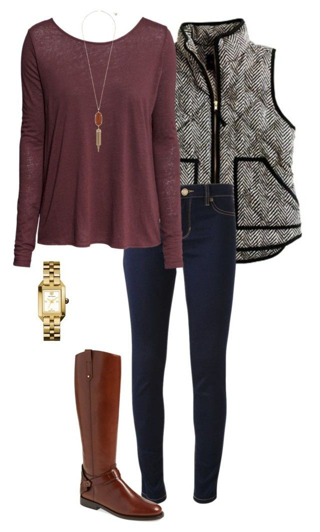 #fall #outfit / Burgundy Long Sleeve + Tall Boots