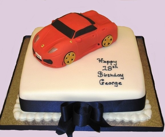Ferrari Cake - This #cake was designed for an 18th ...