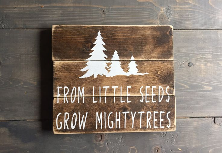 A personal favorite from my Etsy shop https://www.etsy.com/ca/listing/451628890/tiny-seeds-sign-nursery-sign-rustic