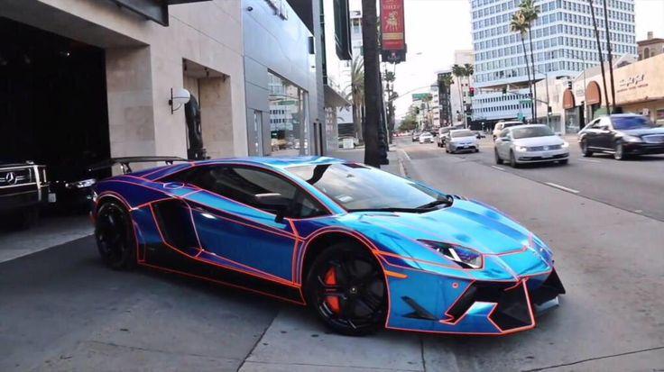 Blue Tron Lambo Sports Cars Luxury Cool Sports Cars Super Luxury Cars