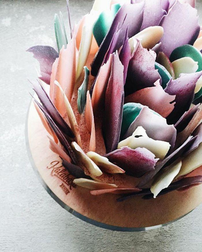 Vernice e segni di pennelli sono il nuovo trend per le torte nuziali! - Foto 11