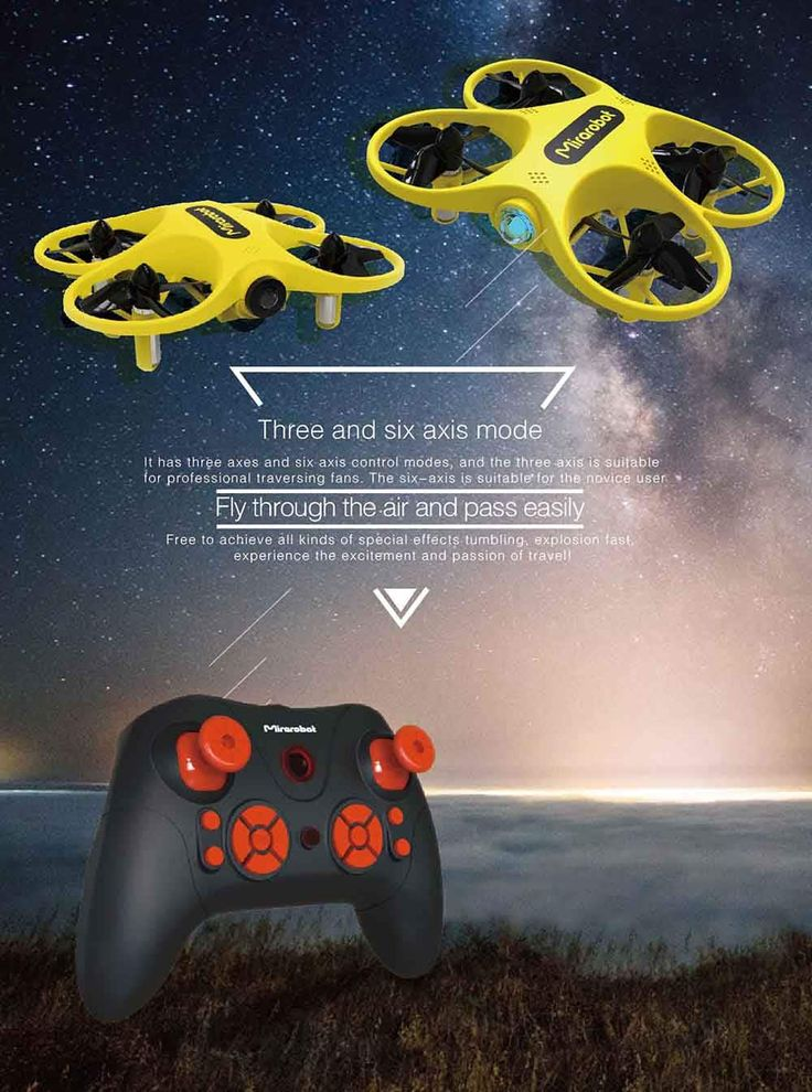 Mirarobot S60 Brushed RC Drone RTF 5.8G Transmitter Three and Six Axis Mode