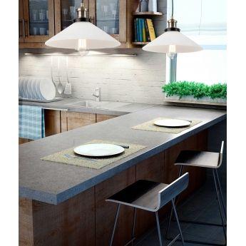 Suspension MARLIN - verre blanc - Faro sur Lumi-Design Marlin est une suspension au design industriel et contemporain de la marque Faro.