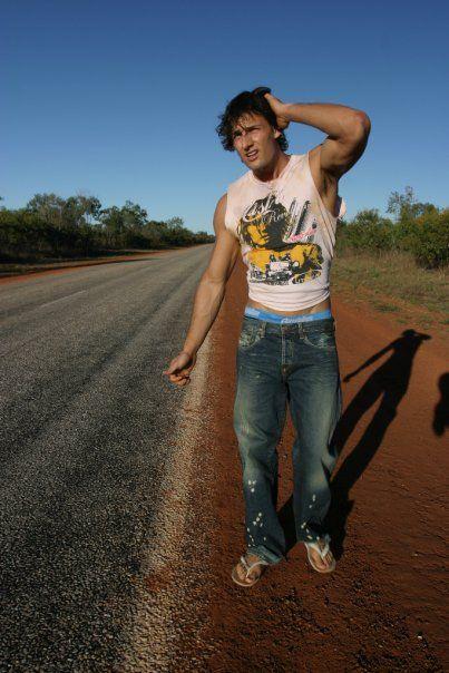 Tim Robards for Aussiebum (2009) #TimRobards #Australian #malemodel #model #fitness #fitnessmodel #Aussiebum #ChadwickModels #TheBachelor #hitchhike #hitchhiker #desert