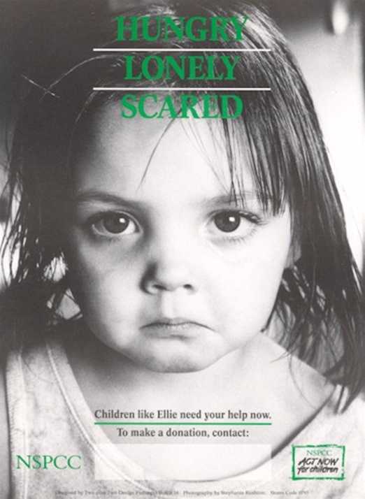 NSPCC Campaign poster from 1991. For more info about the NSPCC, visit www.nspcc.org.uk
