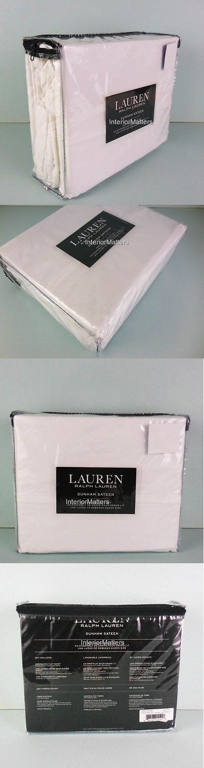 Sheets and Pillowcases 20460: Ralph Lauren Dunham Sateen 4Pc King Sheet Set Solid Crisp White 100% Cotton New -> BUY IT NOW ONLY: $89.99 on eBay!