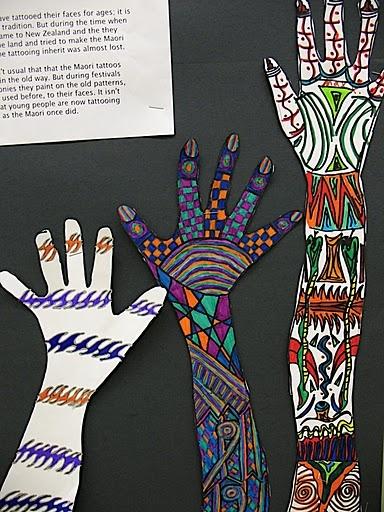 Student's take on Maori tattoos.
