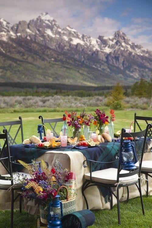 Tablescape and view