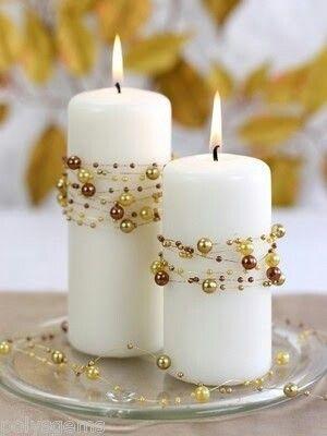 Decorative candle centerpieces  Party easy decor