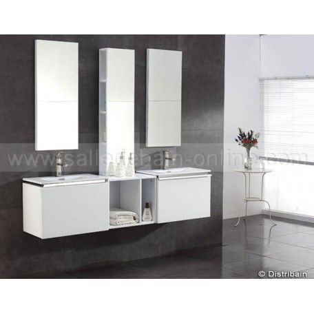 22 best Salle de bain images on Pinterest Bathroom, Bathrooms and - leroy merlin meuble salle de bain neo