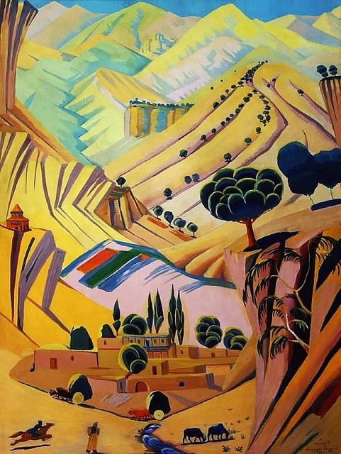 Saryan, Martiros (1880-1972) - 1924 Polychrome Landscape by RasMarley, via Flickr