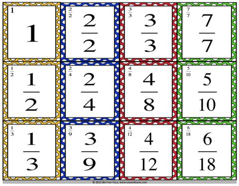 Want a fun, low-prep equivalent fractions game to use in your math centers…