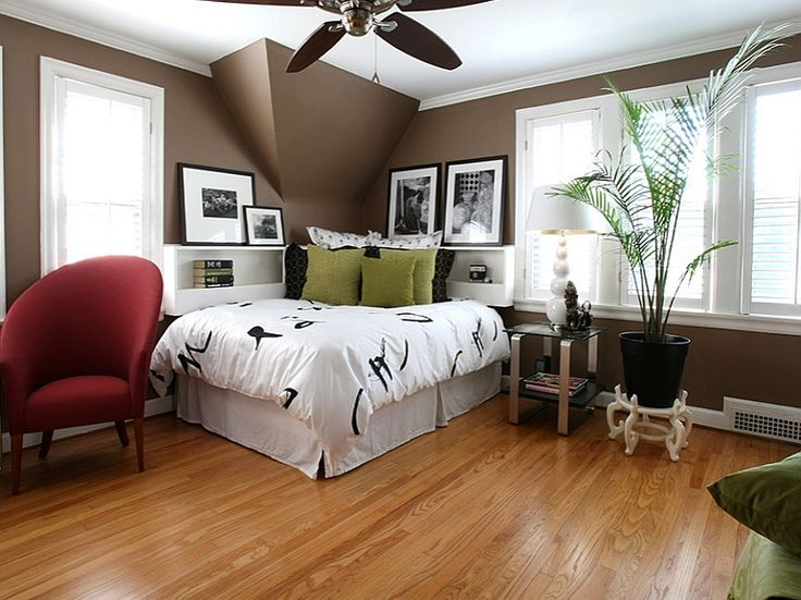 Asian themed bedroom with a trendy corner bed 12 Smart Ways To Put Your Bedroom Corner Space To Use