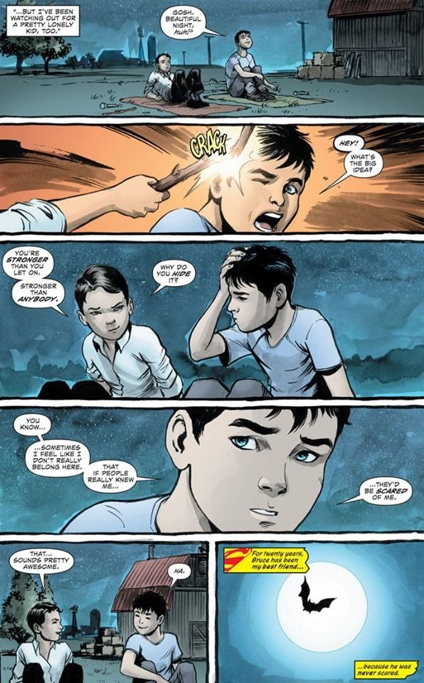 "minerfromtarn: "" princess-ofplunder: "" the-best-dang-avocado: "" burningartist: "" ""When Clark Met Bruce"" in Superman/Batman Secret Files (Earth 2) Batman/Superman is clearly saying that Earth 2's..."