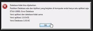 """Cara Mengatasi Error Database """"Versi Aplikasi Dan Database Tidak Sama"""" Di Aplikasi e-Faktur Pajakcara ngeblog di http://www.nbcdns.com"""