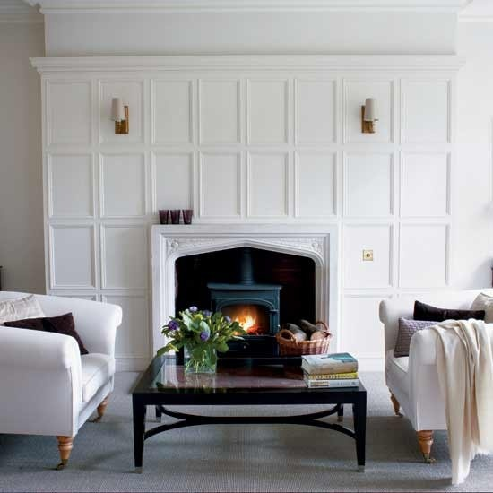 beef up the mantel with paneling.: