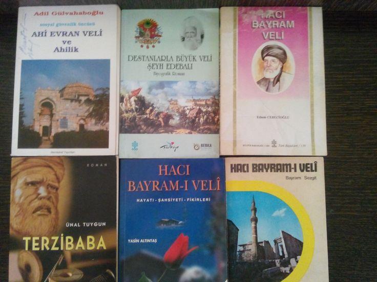 Hacı Bayram Veli kitaplarım-2016