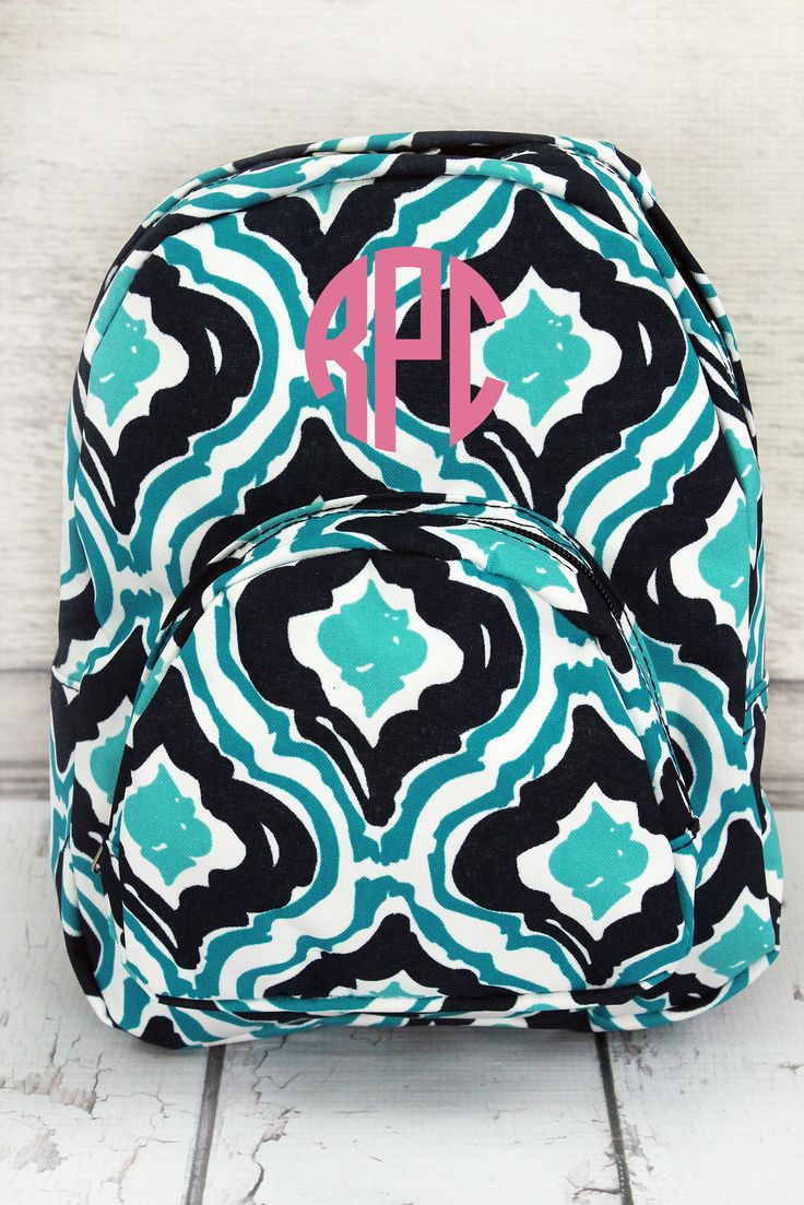Retro Moroccan Small Backpack #HOL828-NAVY