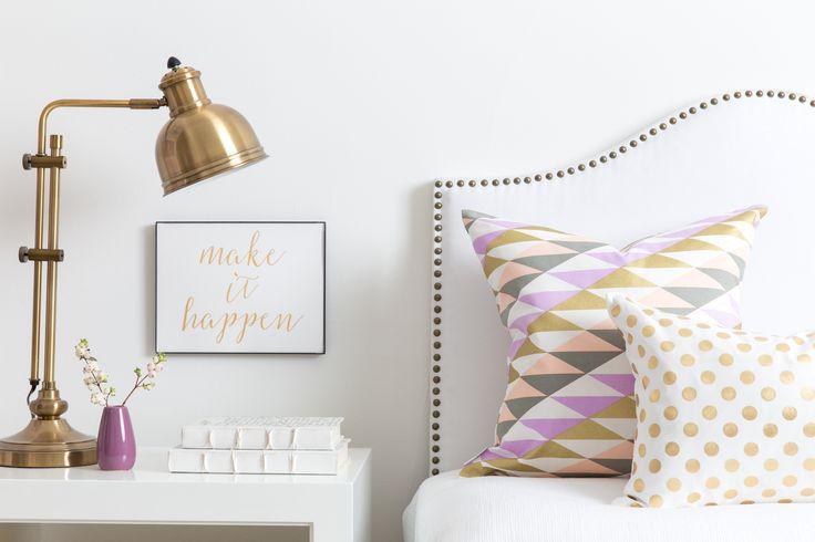 Caitlin Wilson  Tribeca  II & Gold Dot Pillows