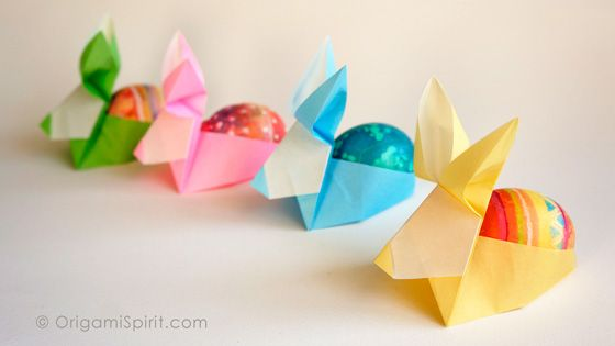 Post image for Make an Origami Rabbit -Perfect as an Easter Egg Holder
