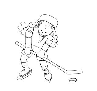 Free Dearie Dolls Digi Stamps: Hockey Girl....reposting this hockey girl for you Cindy H.