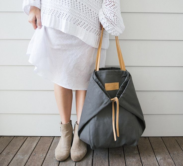 Adventure Forest Grey Canvas Tote Bag - The Beach People