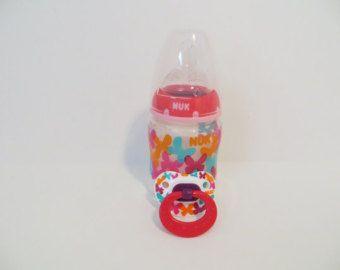 Reborn Magnetic Pacifier Nuk PINK B UTTERFLIES Prop 5 oz Baby Doll ...