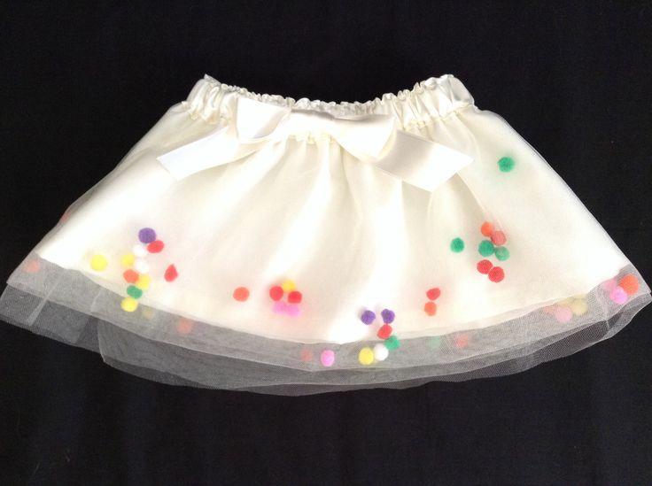 Super cute & fun pom pom skirts! Available in sizes 6mths- 5yrs. Go to www.facebook.com/littlemisslolas to see more!