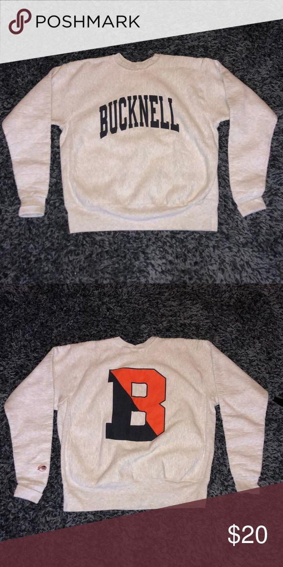 Vintage Bucknell University/College Crewneck Vintage Bucknell Crewneck with University/College writing and big logo on the back, perfect condition, SIZE XL BUT COULD FIT A LARGE Shirts Sweatshirts & Hoodies