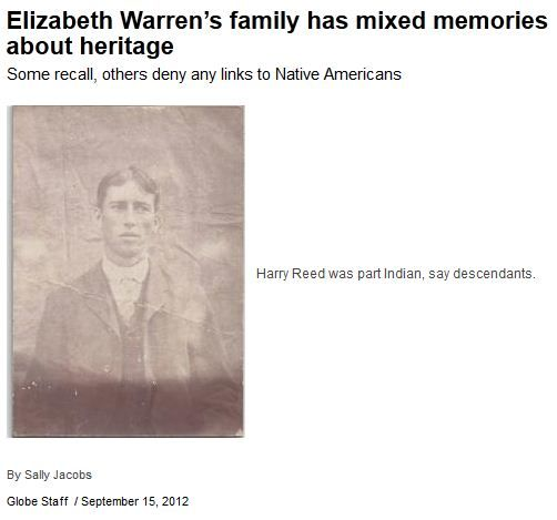 Boston Globe unintentionally proves Elizabeth Warren's ethnic fraud