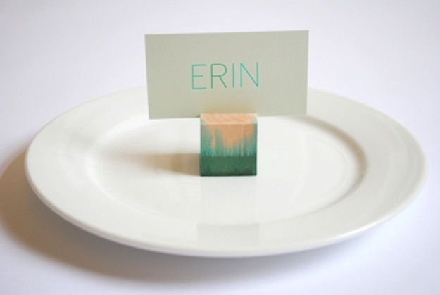 Dip Dyed Place Card Holders | 35 Cute And Clever Ideas For Place Cards