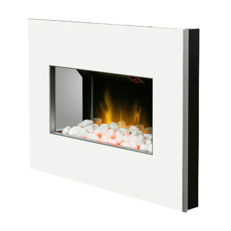 white electric wall fire