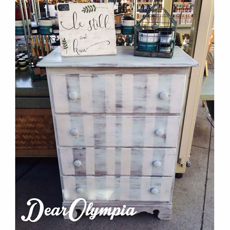 Beach Chic Painted Chest Of Drawers In Cece Caldwellu0027s Paint / Nantucket  Spray / Virginia Chestnut