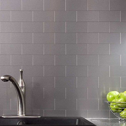 1000 ideas about stainless steel backsplash tiles on metal backsplash tiles for kitchen or bath 12x12 in 1 box